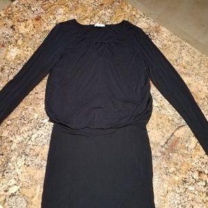 Bar III long sleeve black dress